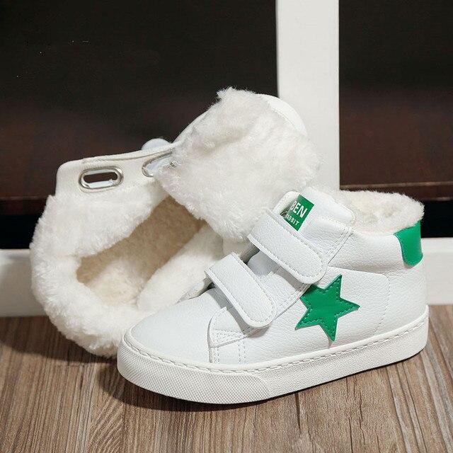 2016 Зимние Детская обувь большой ребенок хлопка мягкой обуви девушки загрузки обувь для детей плюс бархат теплой обуви ребенка зимой загрузки мальчиков