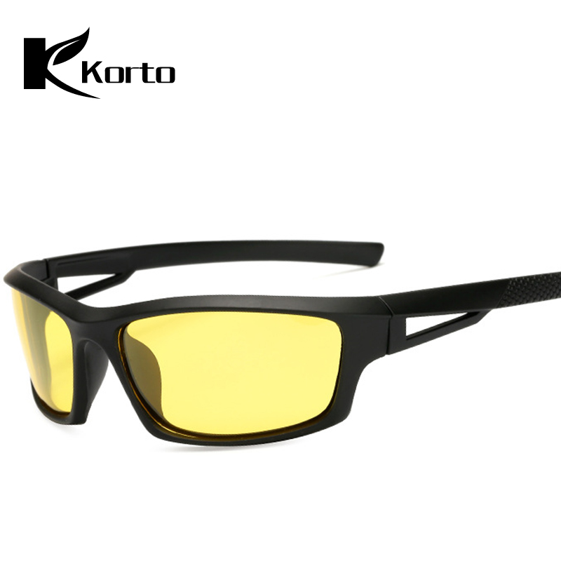 900a95d0e95c0 Motorista moda Óculos de Visão Noturna Visao Veloochki Homem Eyewear  Polarized Homens Óculos de Condução Óculos De Sol De Marca Designer De  Amarelo