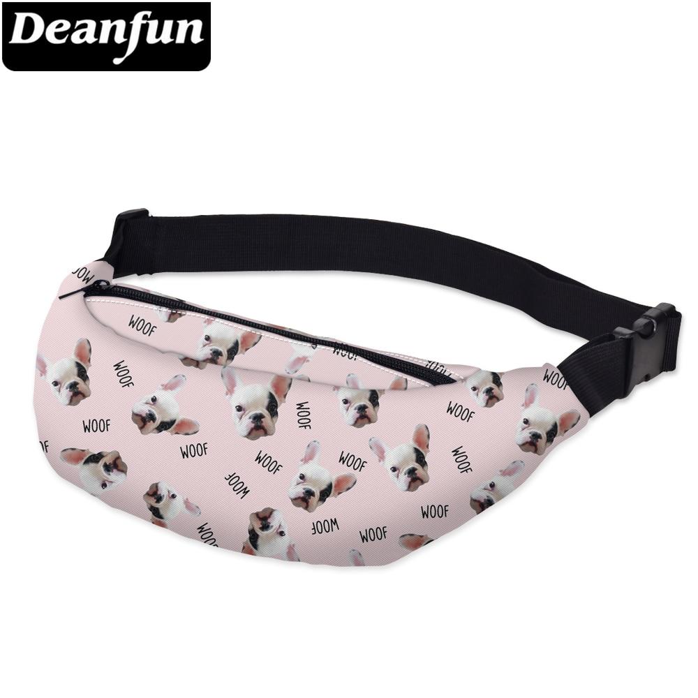 Deanfun Waist Bags 3D Printed Bulldog Adjustable Belt Women  For Outdoors Girls Travelling YB17