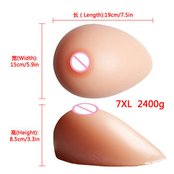 Big Promotion Artificial  Silicone Breast Forms Drag Queen Shemale Crossdresser Teardrop Fake Silicone Boobs 2400g/pair