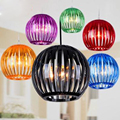 Modern minimalist art Acrylic chandelier colorful pumpkin pot shop section hotel light restaurant lighting