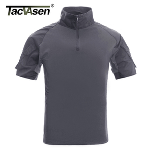 Image 3 - TACVASEN Mens Camouflage Tactical T Shirts Summer Short Sleeve Airsoft Army Combat T shirts Performance Tops Military Clothing