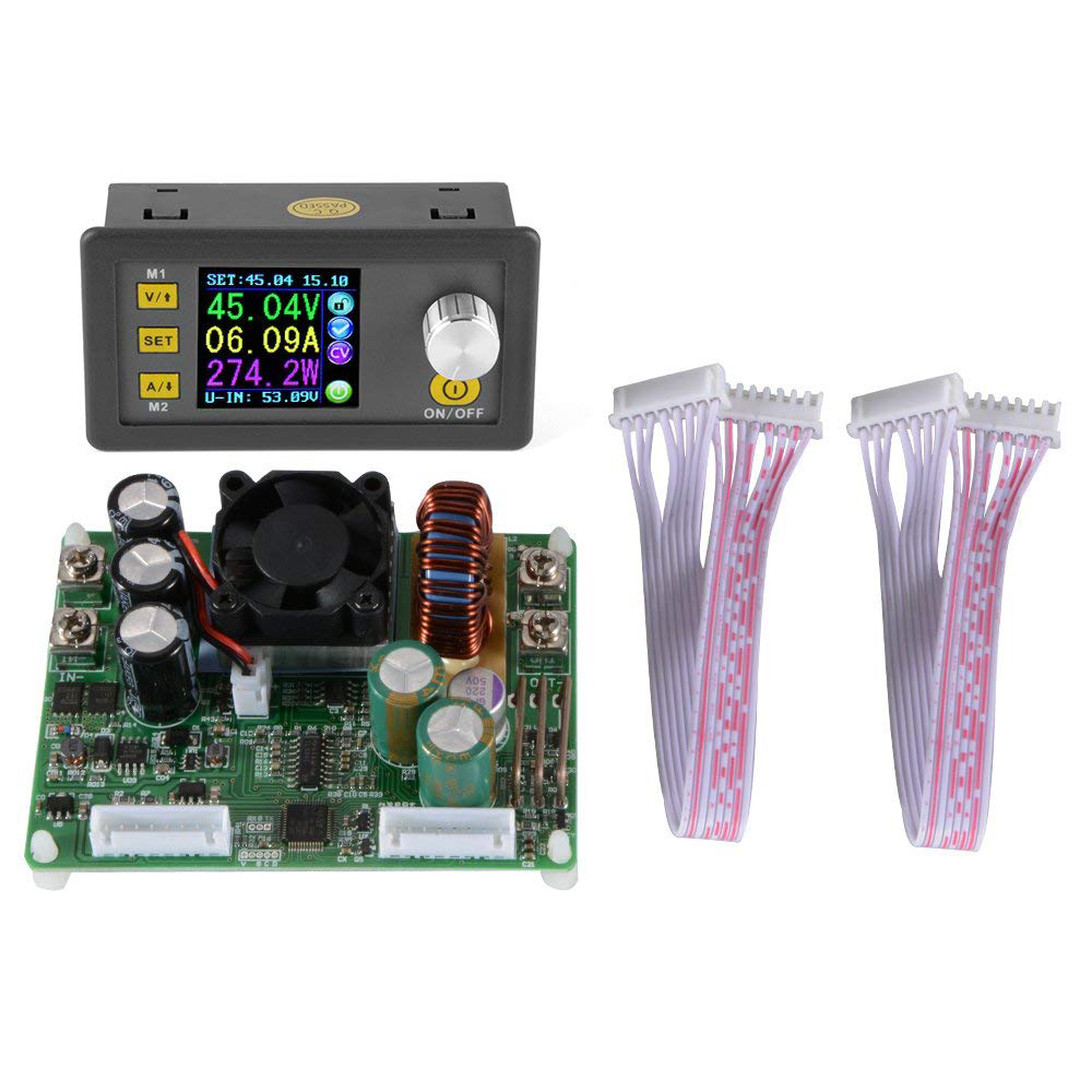 DPS5015 DC Constant Voltage Current Step-down Programmable Power Supply Module Regulator Voltmeter Ammeter Display 50V 15A AD073 zxy6005s nc voltmeter ammeter constant voltage current dc dc power supply module with heat sink 0 60v 0 5a