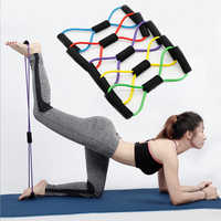 8 Word Fitness Rope Resistance Bands chest developer for Fitness Elastic Fitness Equipment Expander Workout Gym Exercise Train