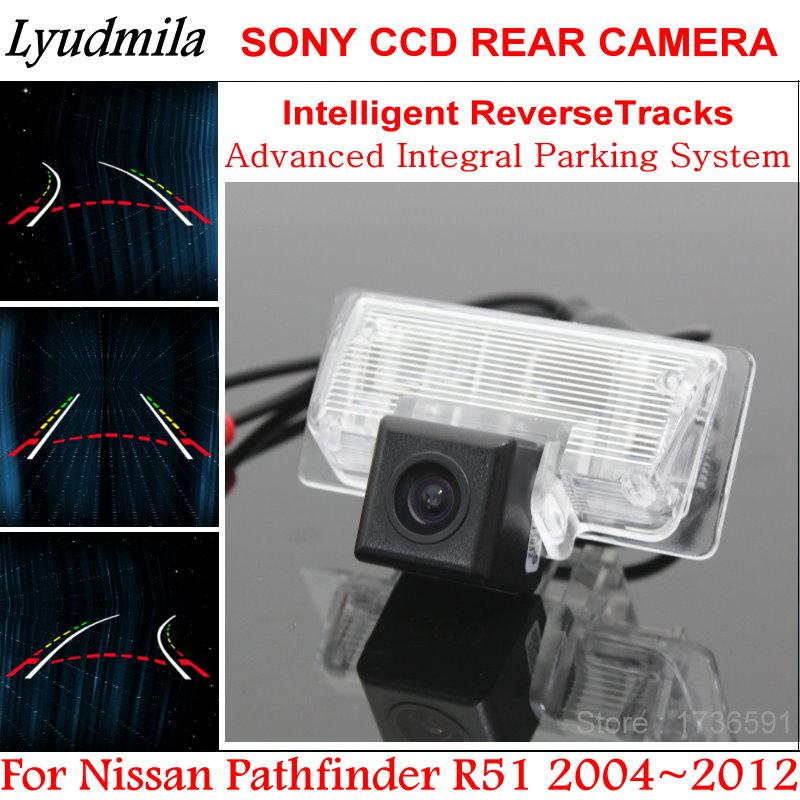 Lyudmila Car Trajectory Camera FOR Nissan Pathfinder R51 2004~2012 Rear View Reverse Camera Intelligent Dynamic Parking Line
