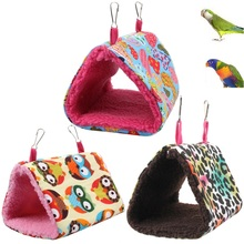 3 Colors Soft Creative Plush Bird Hanging Cave Cage Snuggle Hut Tent Bed Birds Winter Warm Nest Bird Parrot Toy Parrot Hammock
