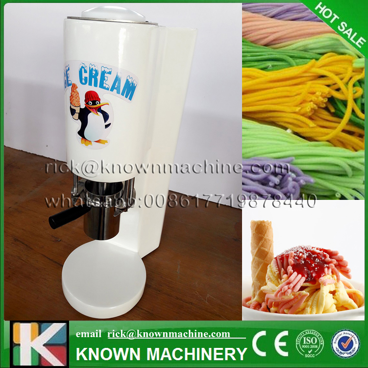 The best selling spaghetti gelato maker italian noodle ice cream machine CE certified with free shipping fruit ice cream feeder from factory selling gelato fruit nuts mixer