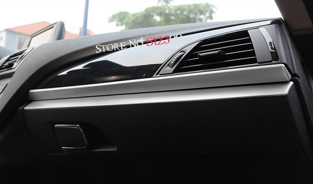 1 Stainless Interior Glove Box Above Stripe Cover Trim For Bmw 1