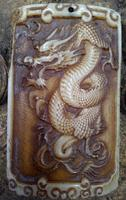 The Ancient The 12 Zodiac Dragon Shaped Pendant Jewelry Sculpture Domino