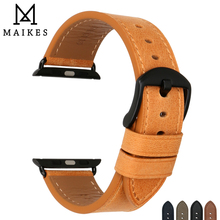 MAIKES Genuine Cow Leather Watchband for Apple Watch Band 44mm 40mm iwatch Band 42mm 38mm Series 4 3 2 Apple Watch Strap genuine leather watchband strap for apple watch band 42mm 38mm