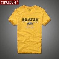 2017 New YiRuiSen Brand Men Short Sleeve T Shirt 100 Cotton O Neck Fashion Patch T