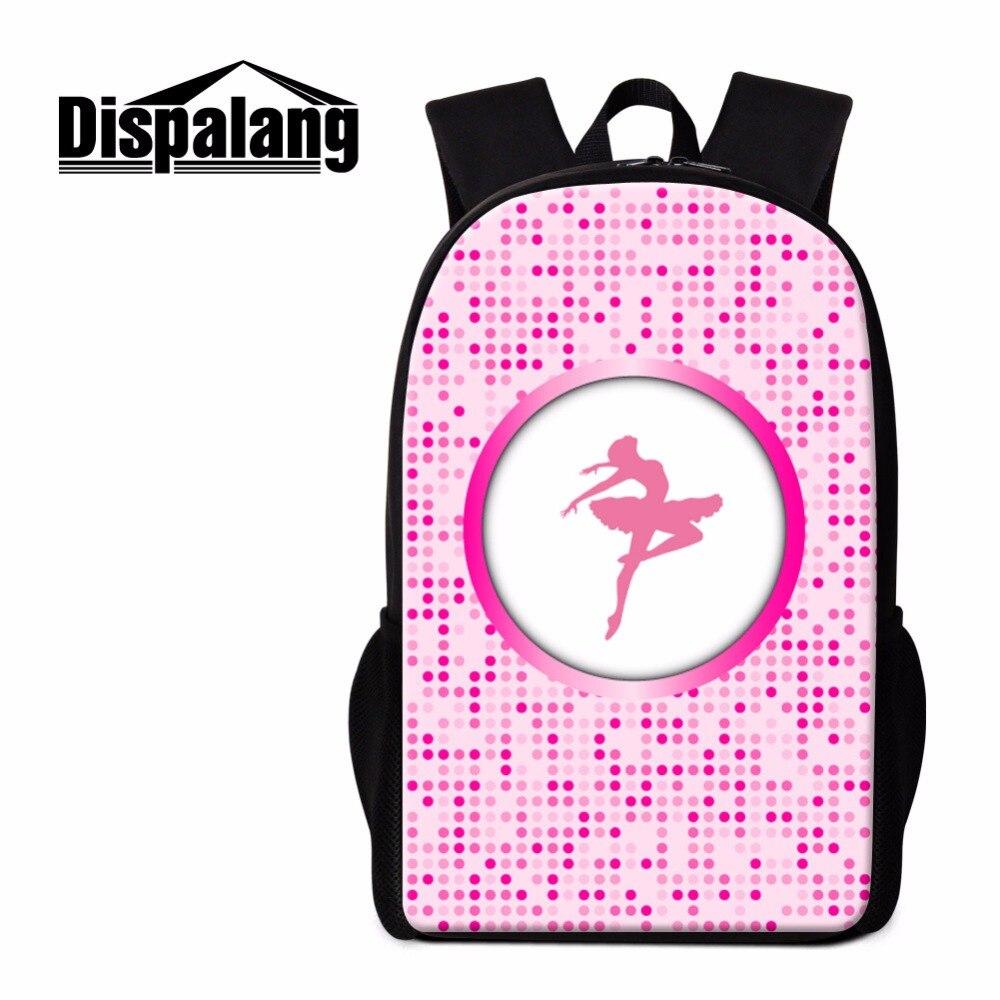 Dispalang Балетные костюмы Обувь для девочек Школьный рюкзак Книги по искусству Bookbags для детей розовый плечо Back Pack подросток саквояж Для женщин ...