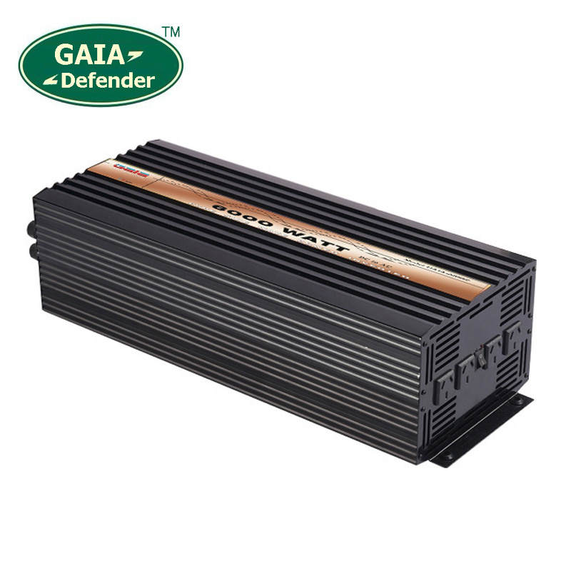 6000W Pure Sine Wave Power Inverter Peak 12000w off-grid DC12V 24V 48V AC 100V 110V 220V 230V 240V solar wind battery car decen 6000w 48vdc 110v 120v 220v 230vac 50hz 60hz peak power 12000w off grid pure sine wave solar inverter or wind inverter