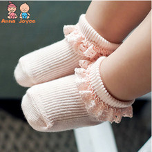 1 пара/Розничная! кружевные носки для маленьких девочек в южнокорейском стиле нескользящие носки