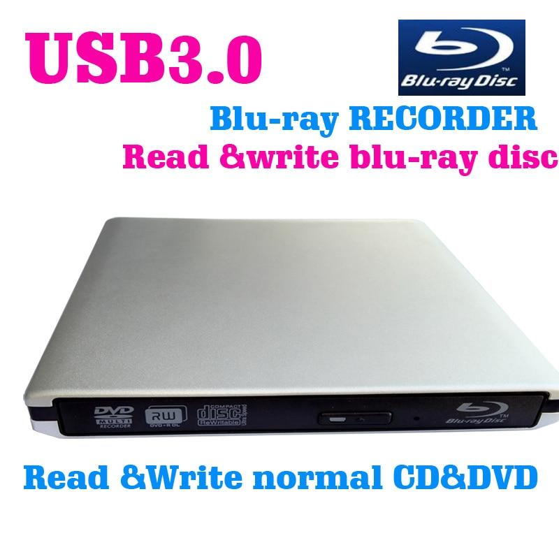 USB3.0 Bluray drive External bluray recorder read&write blu-ray disc 3D and normal CD DVD  support windows10 and Mac модные футболки