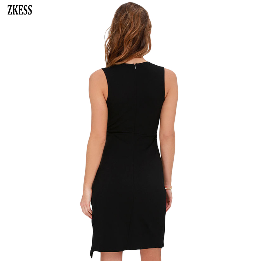 2c228f91f98 Zkess Women Lace Complement Camisole Mini Dress Sexy Lace Patchwork V Neck  Sleeveless Slit Club Party Bodycon Dress LC220380-in Dresses from Women s  ...