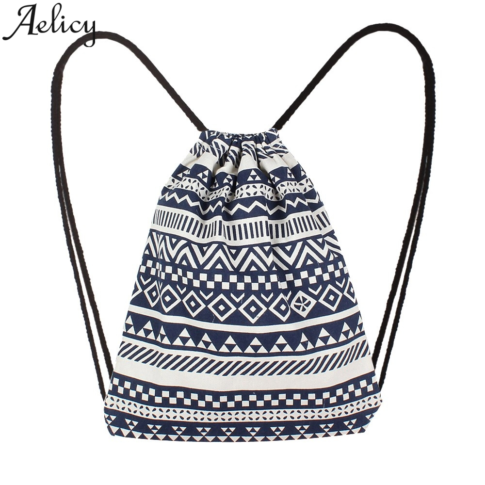 Aelicy 2019 Fashion Solid Color Backpack Women Canvas travel Ethnic Wind Pocket Drawstring Bag Shoulder Backpack School For GirlAelicy 2019 Fashion Solid Color Backpack Women Canvas travel Ethnic Wind Pocket Drawstring Bag Shoulder Backpack School For Girl