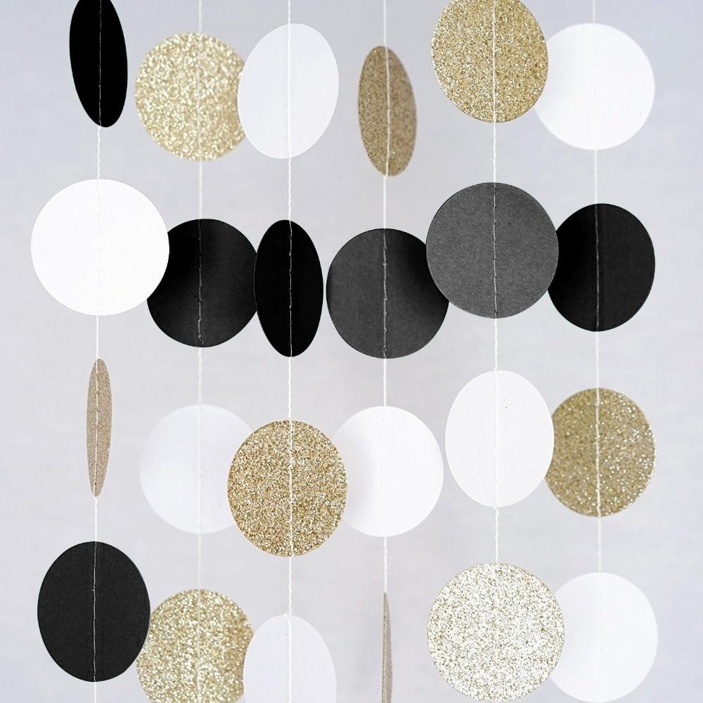 Aliexpress.com : Buy (Black White Gold) Glitter Circle