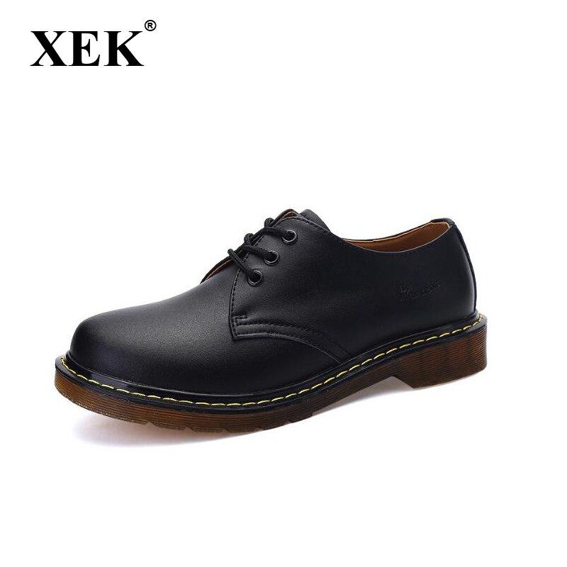 XEK 2018 Casual Genuine Leather Boots Men Black Mens Boots Men Dr Martins Men Shoes Work Safety Shoes Plus wyq06 amaginmni men genuine leather casual shoes leather brand men shoes work safety boots designer men flats men work