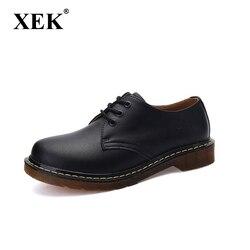 XEK 2018 Casual Genuine Leather Boots Men Black Mens Boots Men Dr Martins Men Shoes Work Safety Shoes Plus wyq06