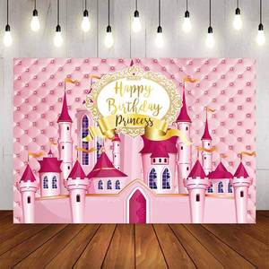 7x10 FT 1st Birthday Vinyl Photography Backdrop,Princess Fairy Party Theme with Best Wishes Pink Wand and Balloons Background for Baby Birthday Party Wedding Studio Props Photography