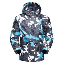 2018 Men Women Softshell Hiking Jackets Outdoor Travel Camping Hiking Trekking Climbing Coat Camouflage Waterproof Ski Jackets недорого