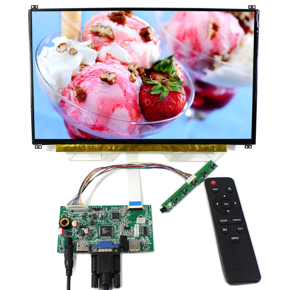 HDM+VGA+USB LCD Controller Board With 13.3inch 1920x1080 N133HSE IPS LCD Screen трусы шорты без пояса blackspade 9310 цвет белый