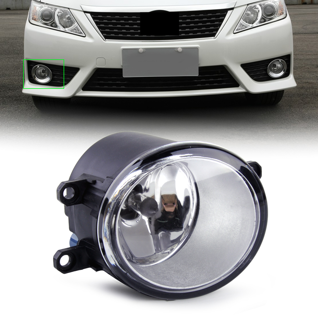 beler Front Right Clear <font><b>Fog</b></font> <font><b>Light</b></font> Driving Lamp 8121006070 with Bulb fit for Toyota Camry Corolla Matrix Yaris <font><b>Lexus</b></font> <font><b>LX570</b></font> image