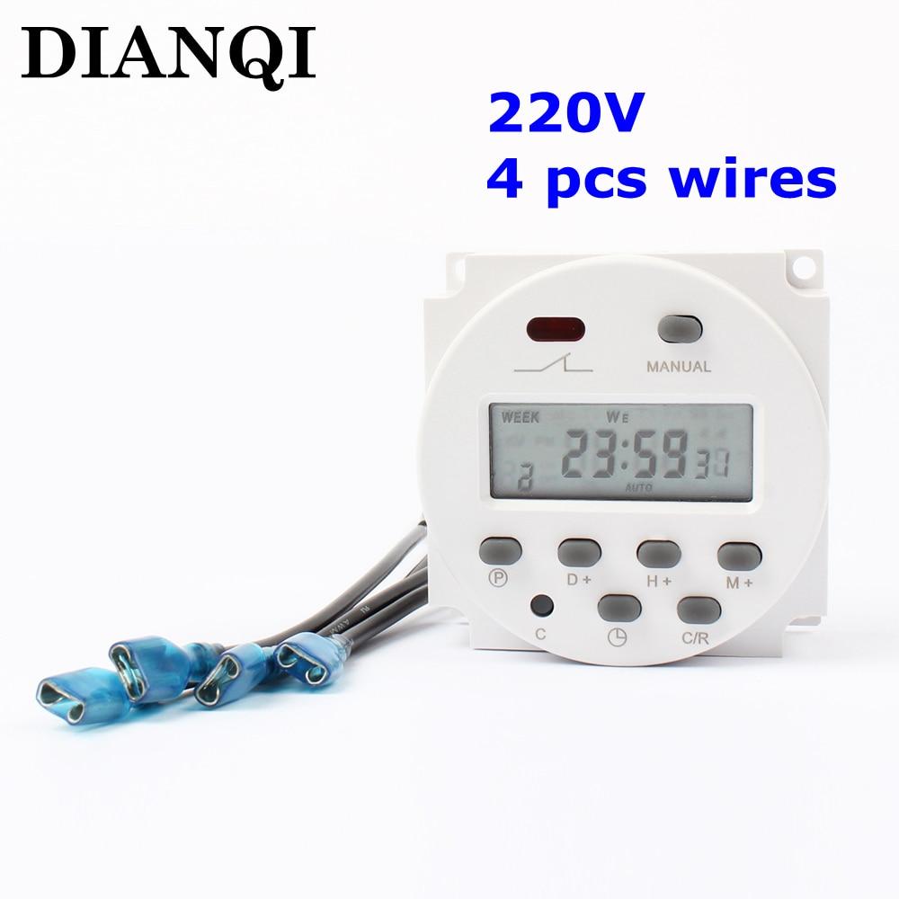 Digital Power Timer : Cn a ac v to digital lcd power timer
