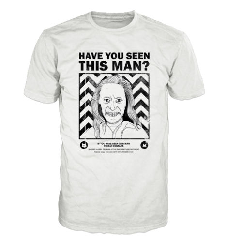 Free shipping 2018 Twin Peaks Inspired Tee, Bob Wanted poster, 80s, cult, horror, tv series Funny Casual Clothing