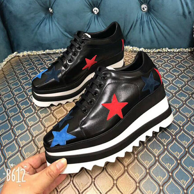 Leather Shoes Woman Lace Up Sneakers Women Square Toe Colorful Star Pattern Women Casual Shoes Chic Platform Shoes Low Top Leather Shoes Woman Lace Up Sneakers Women Square Toe Colorful Star Pattern Women Casual Shoes Chic Platform Shoes Low Top