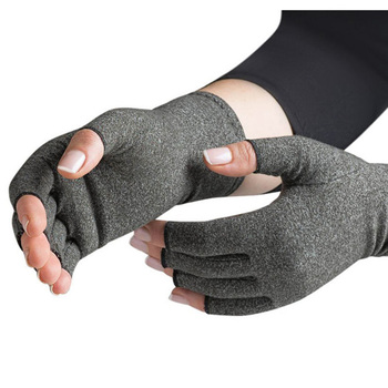 1Pair Compression Therapy Fingerless Gloves
