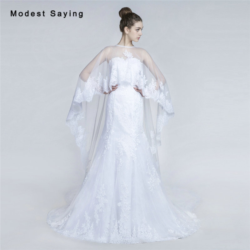 Online Get Cheap Wedding Gowns With Coats Aliexpress Com