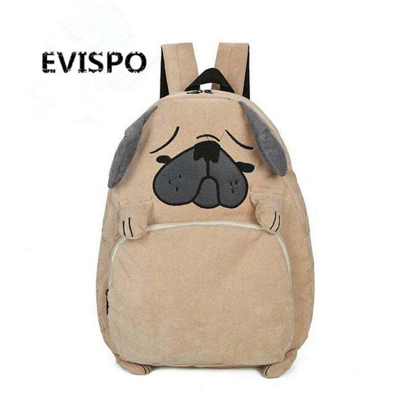 EVISPO New Fashion Puppy Fox Style Women s Backpacks Bag Large Capacity Portable Women Backpacks 2016