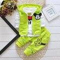 2016 Niños Resorte de la Manera Muchachas de Los Bebés Que Arropan 3 unids Camuflaje Sport Suit Ropa Conjuntos Niños Niñas Traje de Otoño