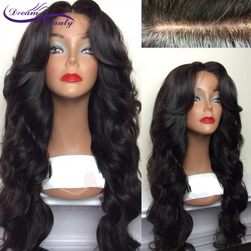 Wavy Silk Base Lace Front Human Hair Wigs Brazilian Remy Hair Lace Wigs With Baby Hair