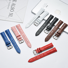 Fashion Charm Colorful Women Watches Band Genuine Leather Kids Watch Strap Red White Pink 10 12 14 15 16 17 18 19 20 22 24 mm цена 2017