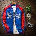 Retro bordado costura terno de beisebol masculino jaqueta de vôo MA1 jaqueta solta