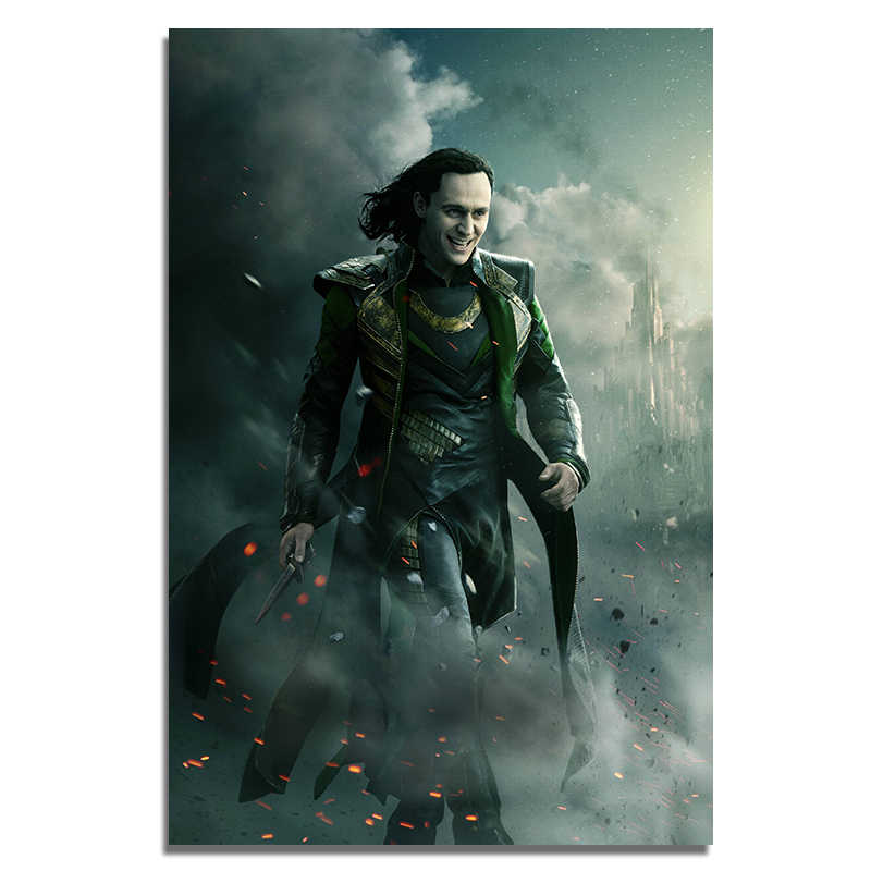 "Loki Posters Movie Silk Prints Large 16x24"" 24x36 Inch Home Room Cafe Bar Decor Wall Art Thor 2 Cloth Paintings No Frame"