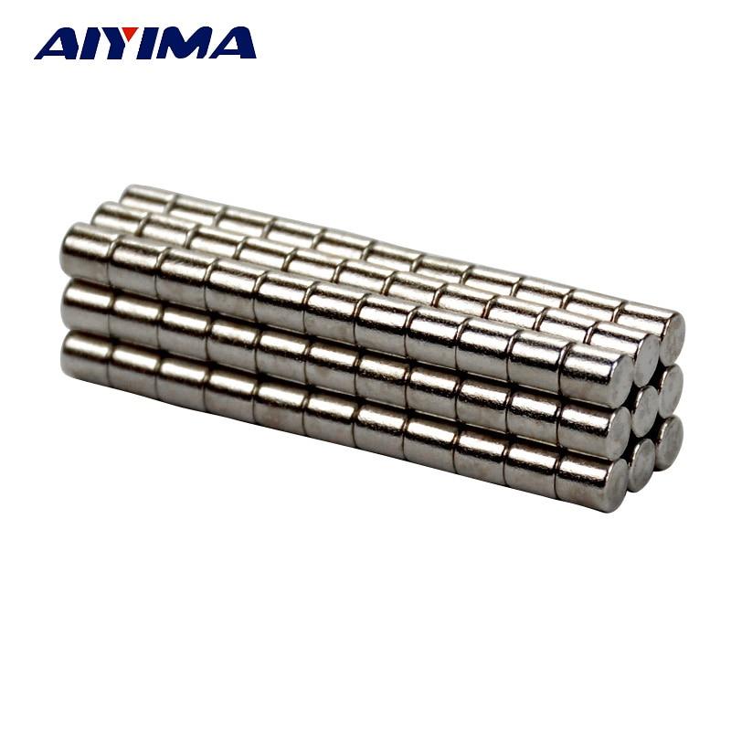 AIYIMA 100pcs 3*3mm Round Magnetic Diameter 3mm x 3mm Rare Earth Neodymium Magnets 3x3 Teaching Magnets For DIY 100pcs 3mm 5mm diameter mercury switch each 50pcs