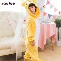 Saufuo Wholesale Animal Bear Pajamas Onesie Adult Unisex Cosplay Costume Pyjamas Sleepwear For Men Women