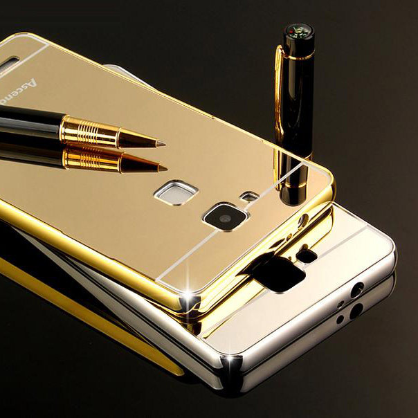 ⊱Funda de teléfono para Huawei mate 7 fundas caso lujo metal Marcos ...