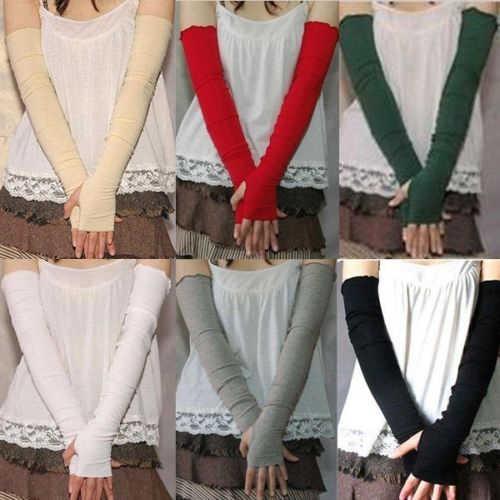 Hot Women's Cotton UV Protection Arm Warmer Long Fingerless Long Gloves  Sleeves 8OKH arm warmers women arm sleevearm warmers cotton - AliExpress
