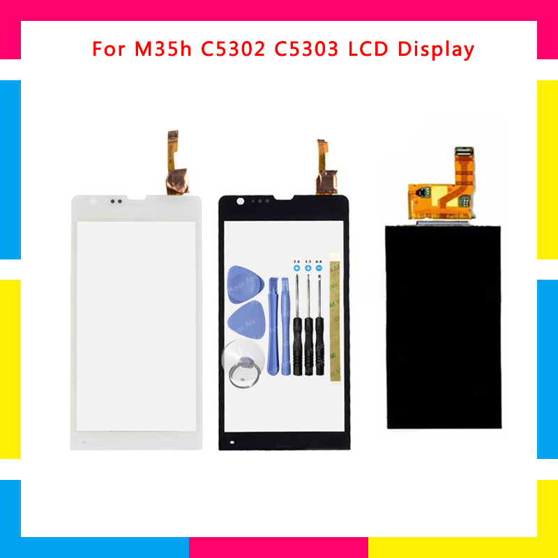 Replacement High Quality LCD Display + Touch Screen Digitizer Sensor For Sony Xperia SP M35h M35 M35i C5302 C5303 + Tool