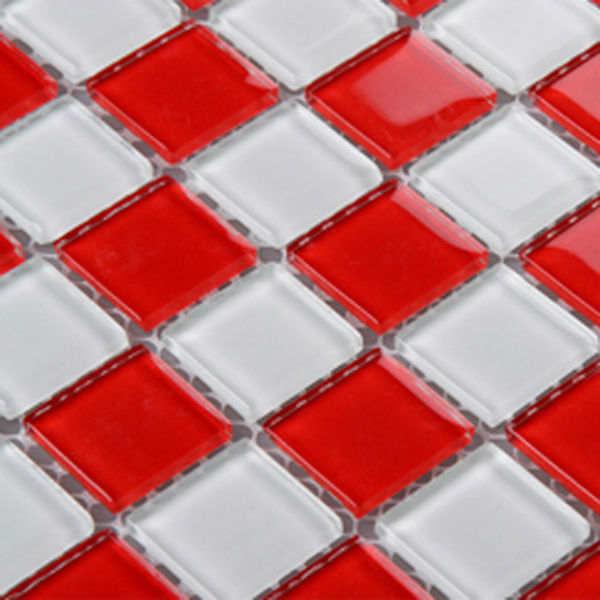 Rouge Verre Dosseret De Cuisine Carreaux De Mosaique Designs 3031