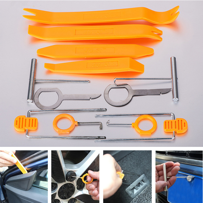 12pcs/set Plastic Pry Tool Trim Removal Tool Car Accessaries For Peugeot RCZ 206 207 208 301 307 308 406 407 408 508 2008-6008
