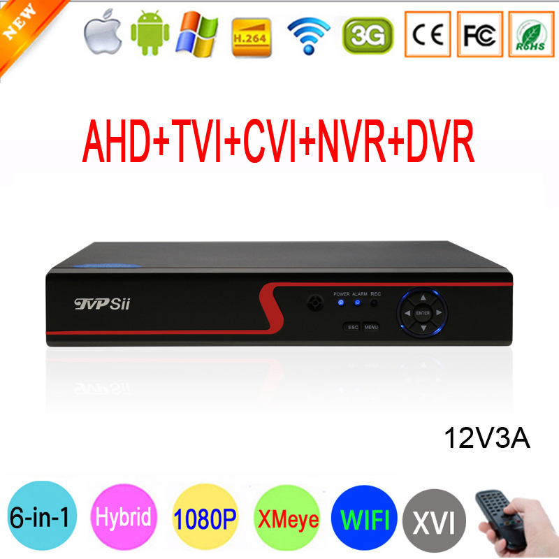 1080P CCTV Camera Red Panel Hi3521A XMeye 16 Channel 6 in 1 Coaxial Hybrid Wifi Onvif XVI CVI NVR TVI AHD DVR Free Shipping silver panel hi3521a 5 in 1 xmeye 4 channel 4ch 1080p 2mp 25fps realtime hybrid coaxial nvr tvi cvi ahd cctv dvr free shipping