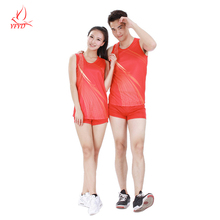 Couples Sport Suit 2016 New Arrival Breathable Quick Drying Mens Running Sets Cheap Women Badminton Gym Fitness Yoga Clothes