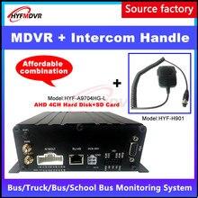 HD 4-канальный пульт дистанционного видеонаблюдения хост 4G Мобильный цифровой видеорегистратор GPS домофон ручка личный автомобиль/экскаватор/комбайн/большой корабль MDVR