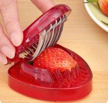 Strawberry Slicer 7 Stainless Steel Sharp Blade Salad Cutter Berry Cutter Corer Split Tool Salad supplies fruit carving tools